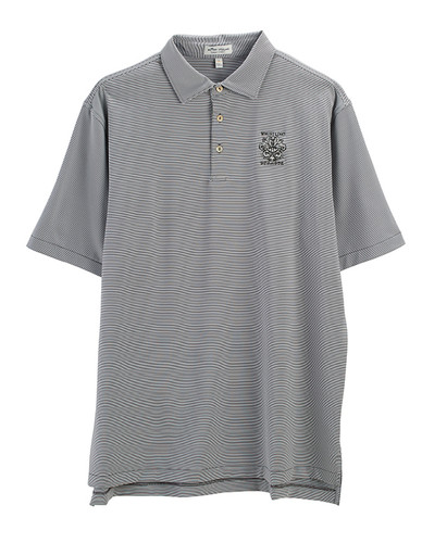 MEN'S PETER MILLAR JUBILEE STRIPE POLO. WHISTLING STRAITS  LOGO EXCLUSIVELY. 2 COLOR OPTIONS