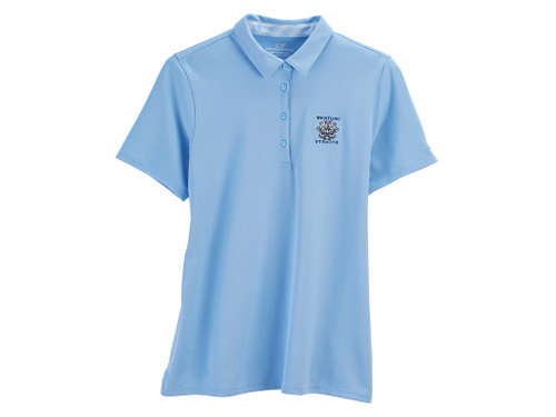 WOMEN'S VINEYARD VINES® PIQUE SOLID POLO. WHISTLING STRAITS LOGO EXCLUSIVELY.  2 COLOR OPTIONS.