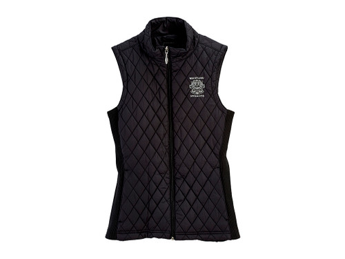 WOMEN'S STRAIGHT DOWN LAUREL VEST. WHISTLING STRAITS LOGO EXCLUSIVELY. 2 COLOR OPTIONS.
