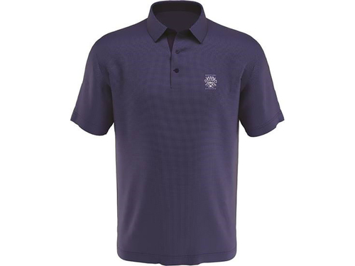 MEN'S  CALLAWAY SWING TECH GINGHAM PRINTED POLO. WHISTLING STRAITS LOGO EXCLUSIVELY. 2 COLOR OPTIONS.