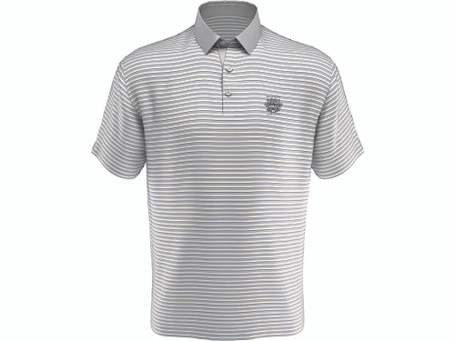 MEN'S CALLAWAY REFINED THREE COLOR STRIPE POLO. WHISTLING STRAITS LOGO EXCLUSIVELY.