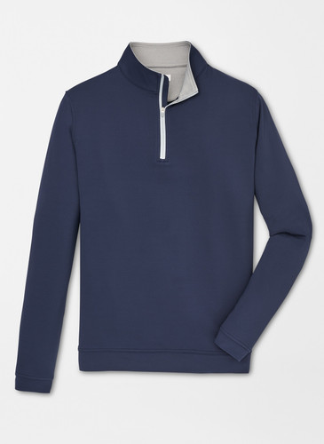 MEN'S PETER MILLAR PERTH STRETCH TERRY LOOP QUARTER-ZIP PULLOVER.  THE AMERICAN CLUB® LOGO EXCLUSIVELY. 3 COLOR OPTIONS