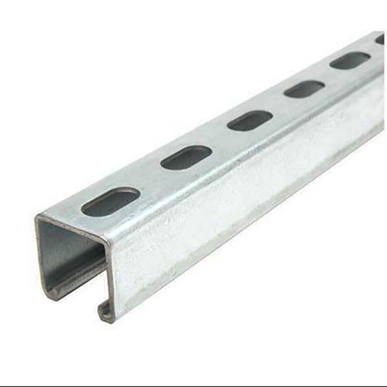 "Galvanized Steel, Half Slotted Strut Channel, 1-3/8"" x 1-5/8"", 24 inches, 12 ga."