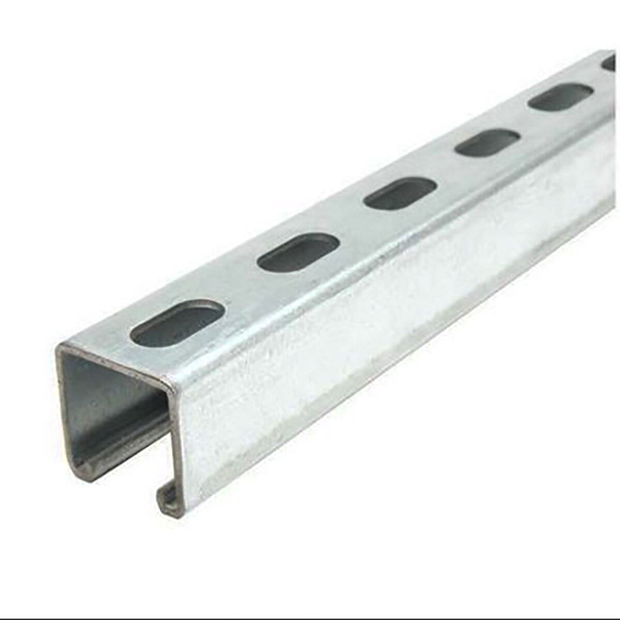 "Galvanized Steel, Half Slotted Strut Channel, 1-3/8"" x 1-5/8"", 36 inches, 12 ga."