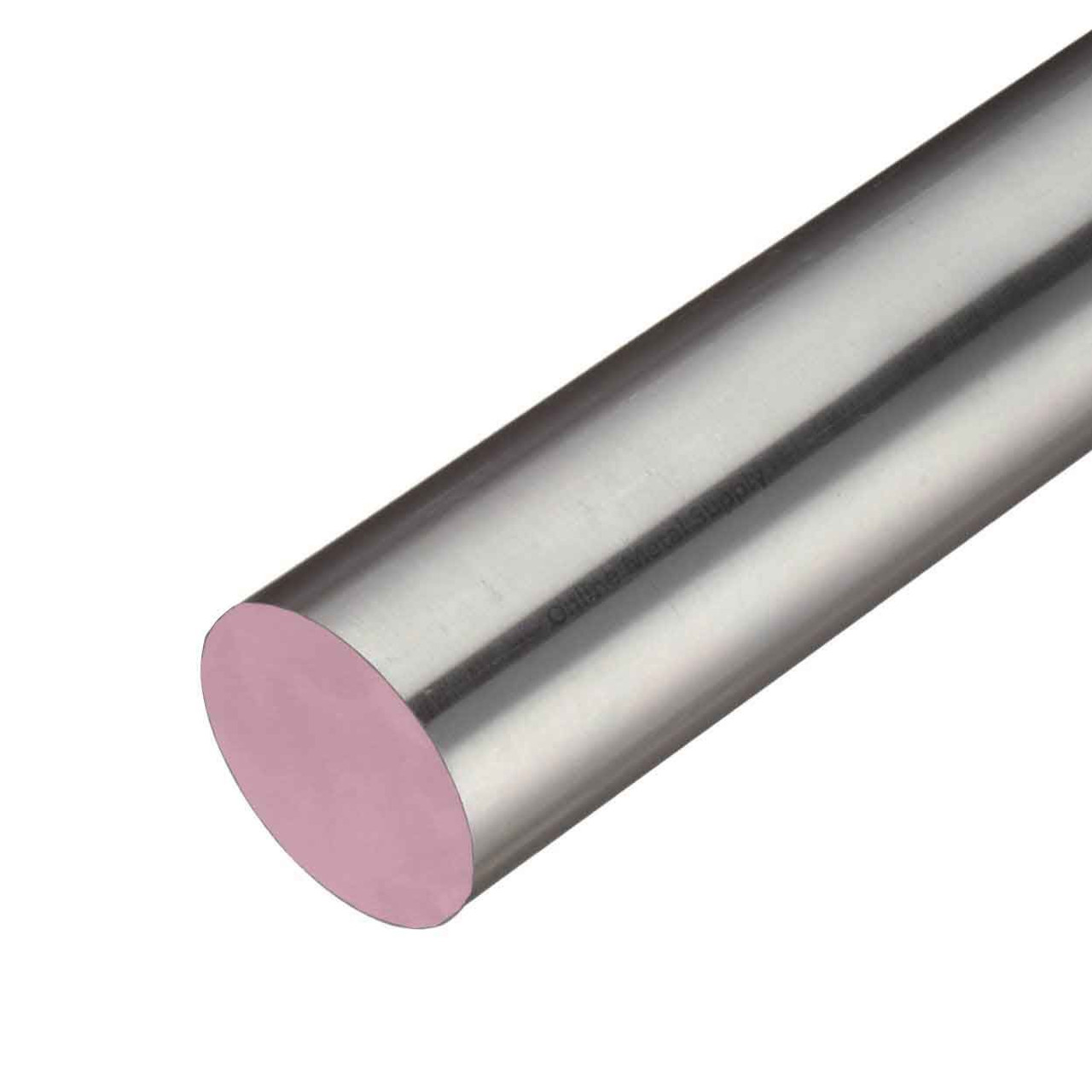 4.000 (4 inch) x 8 inches, 303 CF Stainless Steel Round Rod