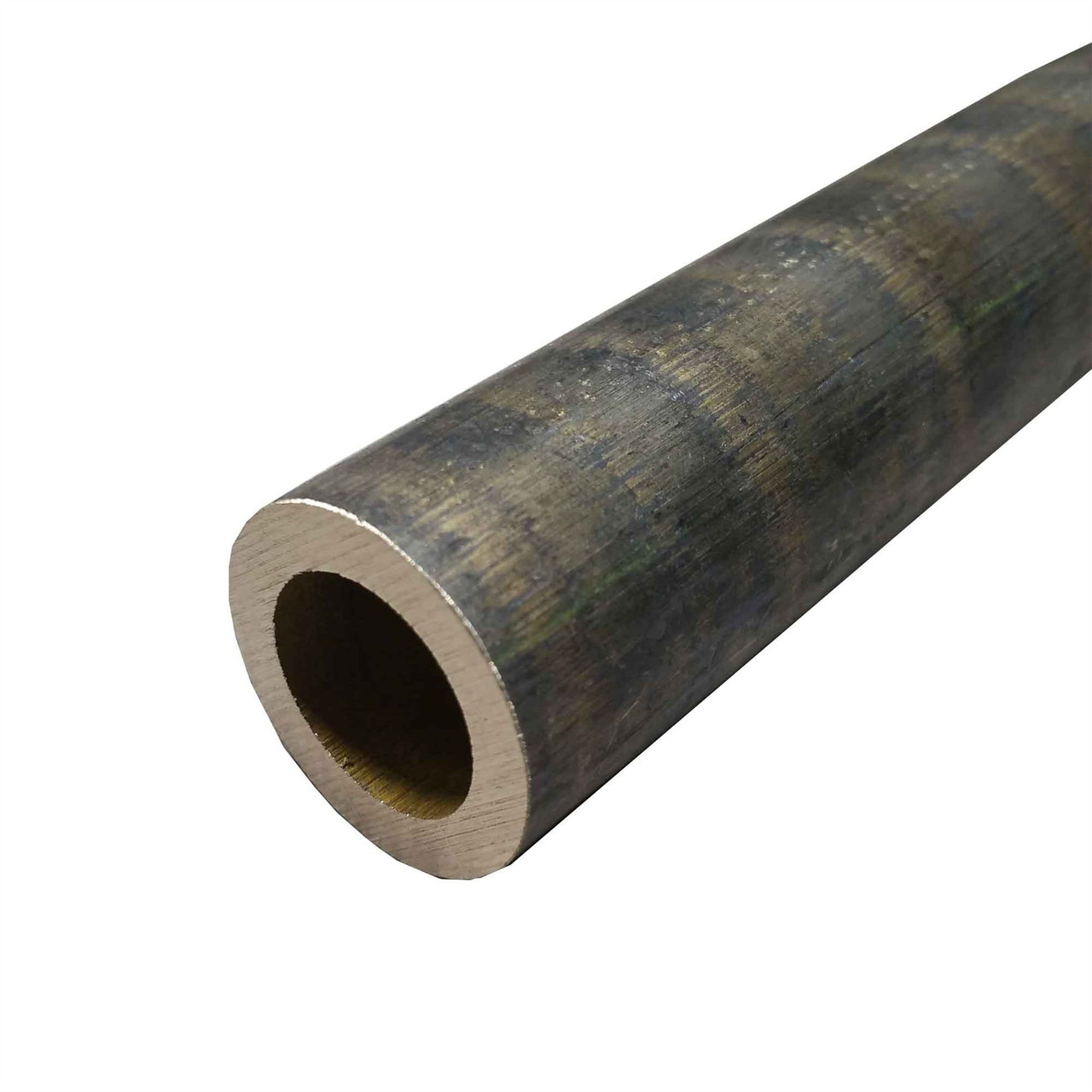 """C954 Bronze Hollow Round Bar, 2"""" ID, 3"""" OD, 12 inches long"""