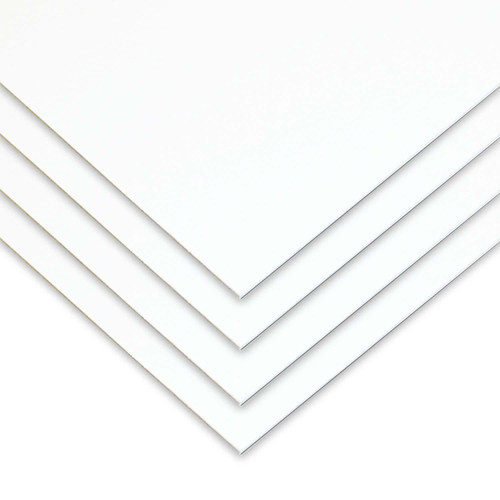 "White High Impact Polystyrene Plastic Sheet .060"" x 24"" x 48"" (4 Pack)"