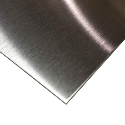 """0.024"""" x 12"""" x 12"""", 304 Stainless Steel Sheet, #4 Brushed Finish"""