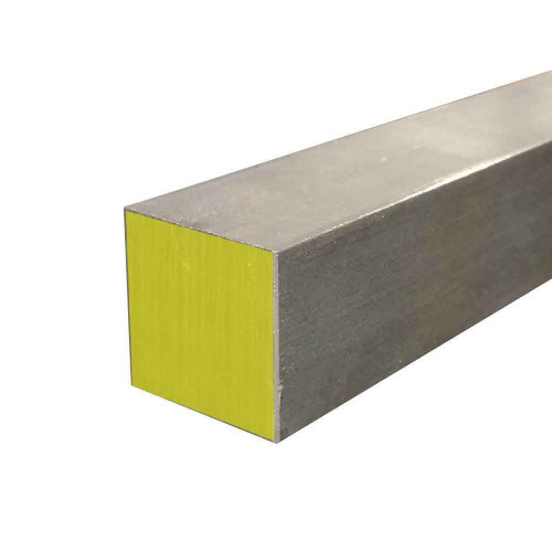 """316 Stainless Steel Square Bar, 2"""" x 2"""" x 24"""" Cold Finished"""