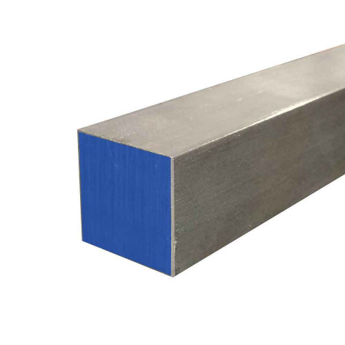 """304 Stainless Steel Square Bar, 0.375"""" x 0.375"""" x 24"""", Cold Finished"""