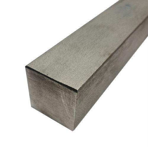"""304 Stainless Steel Square Bar, 1.5"""" x 1.5"""" x 12"""", Hot Rolled"""