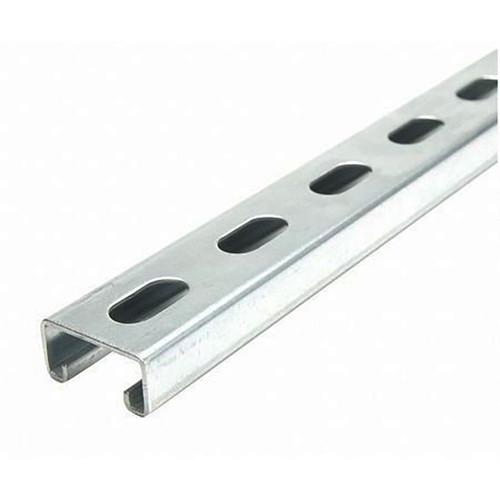 "Galvanized Steel, Half Slotted Strut Channel, 13/16"" x 1-5/8"", 60 inches, 12 ga."