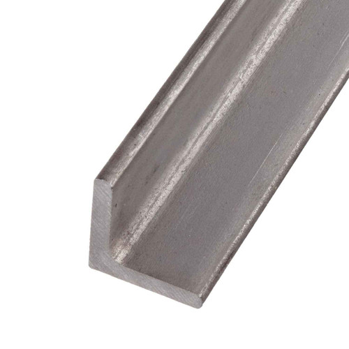 """304 Stainless Steel Angle, 2.5"""" x 2.5"""" x 0.250"""" x 12 inches"""