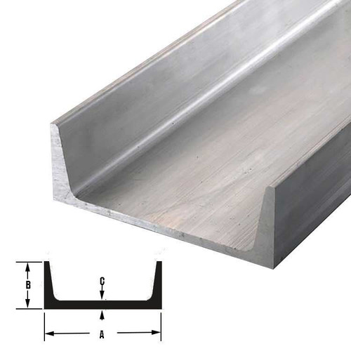 """6061-T6 Aluminum Channel, 9"""" x 2.65"""" x 24 inches"""
