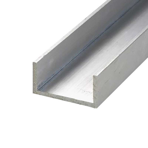 """6063-T52 Aluminum Channel, 1"""" x 1"""" x 0.125"""" x 12 inches"""
