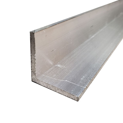 """0.750"""" x 0.750"""" x 0.063"""" x 12 Feet (3 pieces, 48 inches), 6063-T52 Aluminum Angle"""