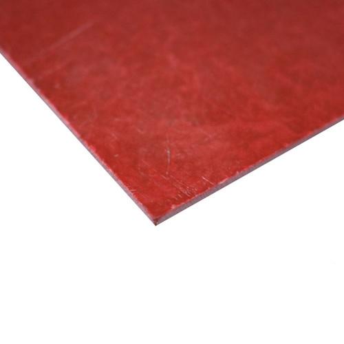 "0.063"" x 12"" x 24"", GPO-3 Glass Laminate Sheet, Red"