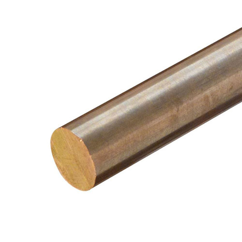C314 Leaded Commercial Bronze Round Rod, 0.437 (7/16 inch) x 12 inches