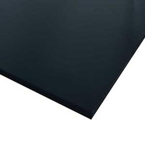 """PET (Polyethylene Terephthalate) Plastic Sheet .625"""" x 12"""" x 24"""" - Black"""
