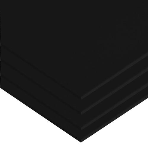 "Black High Impact Polystyrene Plastic Sheet .080"" x 24"" x 48"" (4 Pack)"