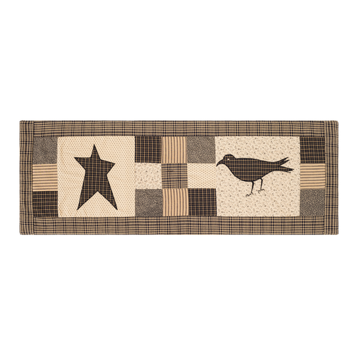 Kettle Grove Runner Crow and Star 13x36