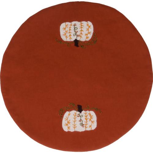 Penney Pumpkin Orange Candle Mat