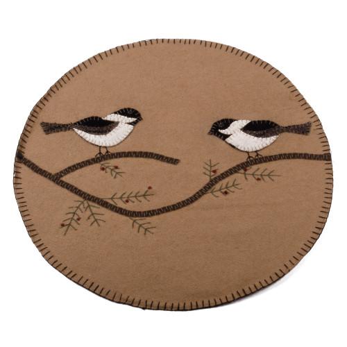 Chickadee Nutmeg Candle Mat