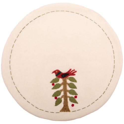 Nesting Tree Cream Candle Mat