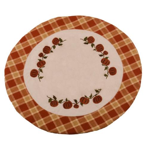 Little Pumpkin Vine Osenburg - Burnt Orange Candle Mat
