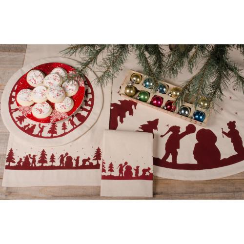 Snowman Silhouette Osenburg Candle Mat