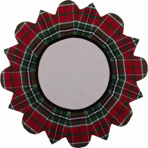 Festive Flannel Red Candle Mat