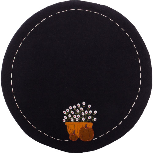 Bittersweet Basket Black Candle Mat