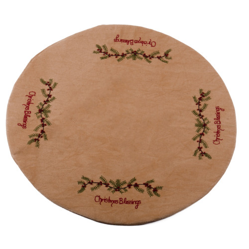 Christmas Blessings Tea Dyed Candle Mat
