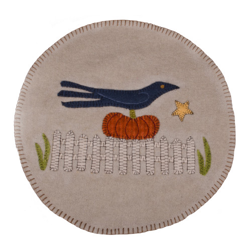 Sitting on a Fence Gray Candle Mat