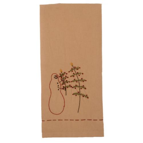 My Christmas Tree Nutmeg - Barn Red Towel