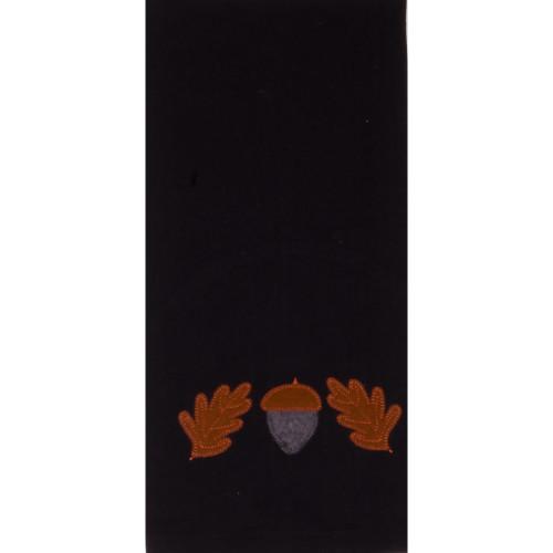 Acorn & Oak Leaf Black Towel