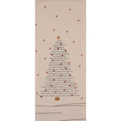 Christmas Word Tree Osenburg Towel