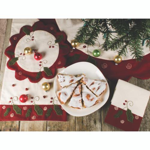 Peppermint Christmas Osenburg - Barn Red Towel
