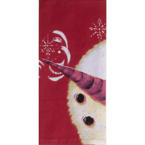 Carrot Nose Barn Red Towel