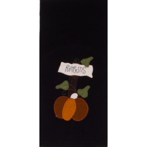 Pumpkins for Sale Black Towel