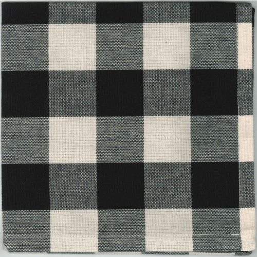 Buffalo Check Black - Buttermilk Napkin