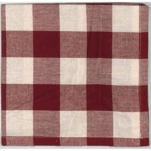 Buffalo Check Barn Red - Buttermilk Napkin
