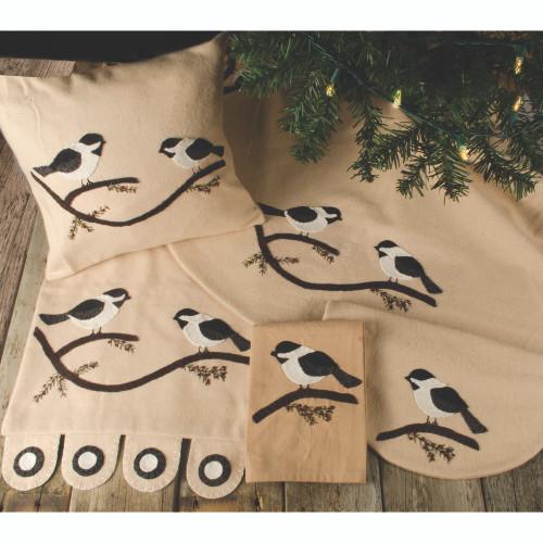 Chickadee Nutmeg Pillow