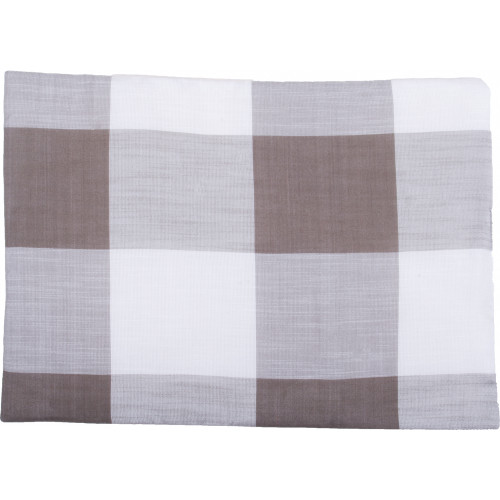 Buffalo Check Cream - Pewter Placemat