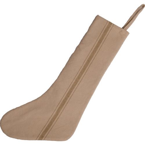 Grain Sack Stocking Oat Stripe - Cream Stocking