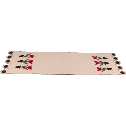 3 Tulips Cream Table Runner