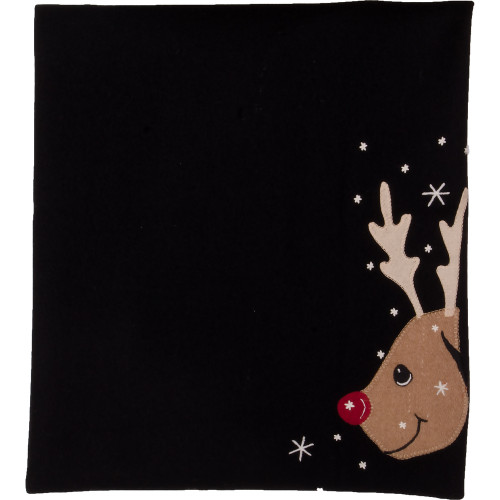 Reindeer Black Table Runner
