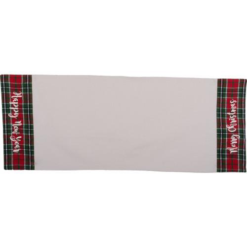 Festive Flannel Red Table Runner