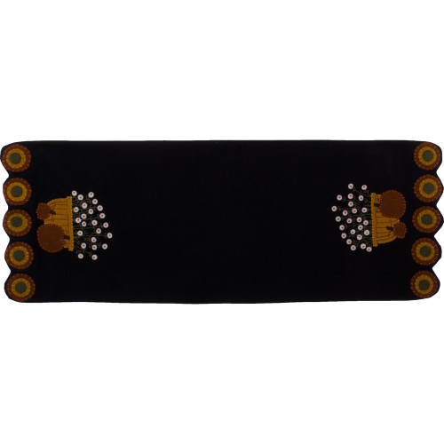 Bittersweet Basket Black Table Runner