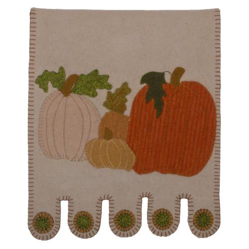 Pumpkin Field Gray Table Runner